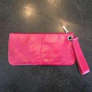HOBO Pink Leather Wristlet